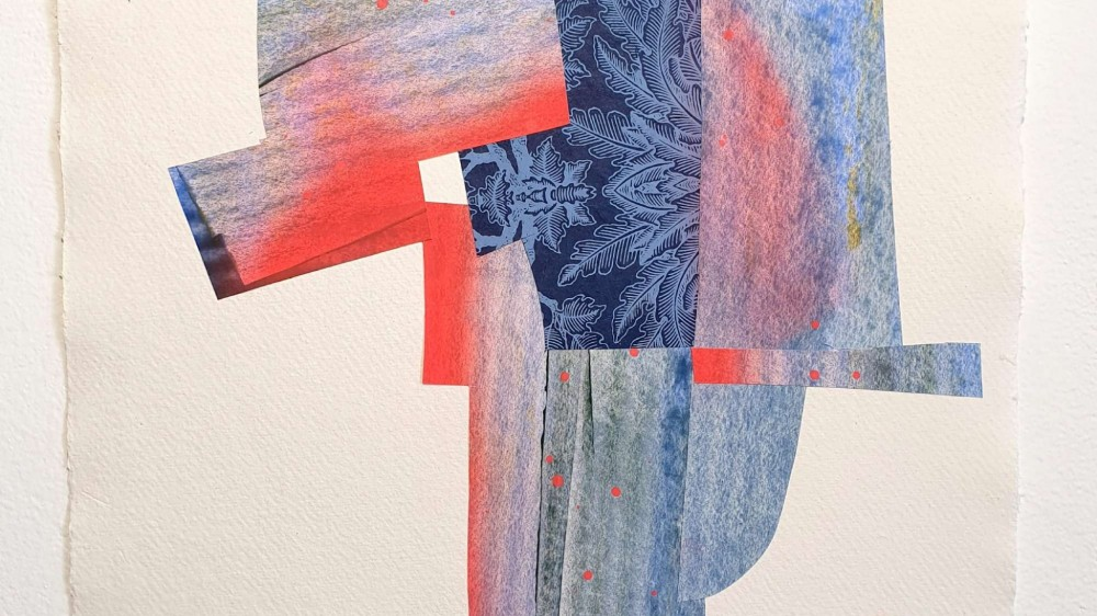 "Cold Beach | 16,5"" x 11,8"" | 42 x 30 cm | Collage | 2020 | Carlos Albert Escultor"